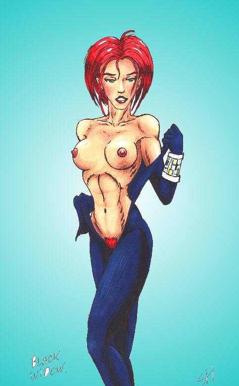 the widow naked avengers black Yu-gi-oh zexal mira tsukumo