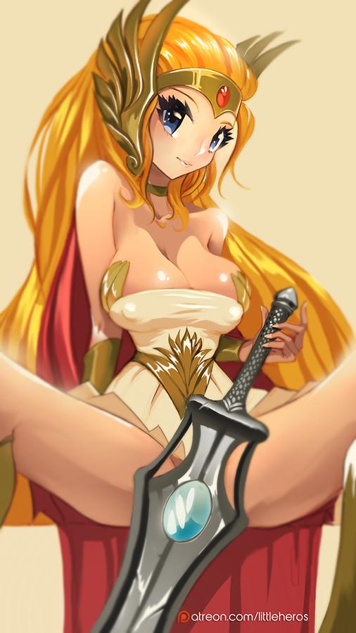 network cartoon mighty mega sword Rose, warrior of revenge