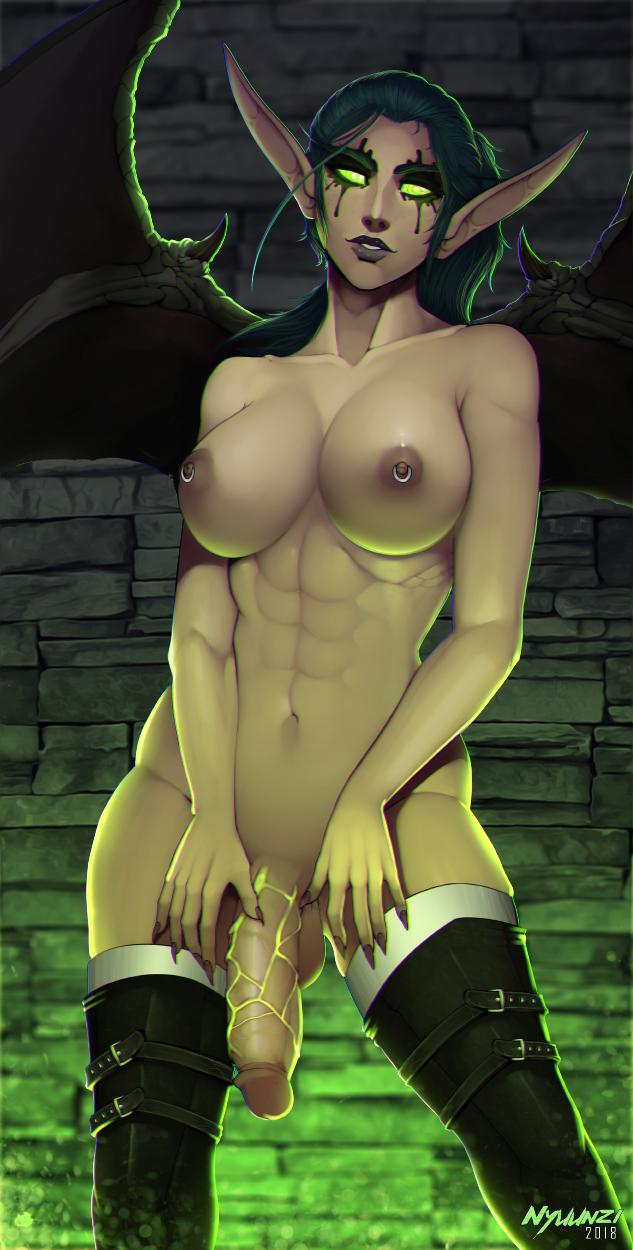 female demon blood elf hunter Miss kobayashi's dragon maid rukoa