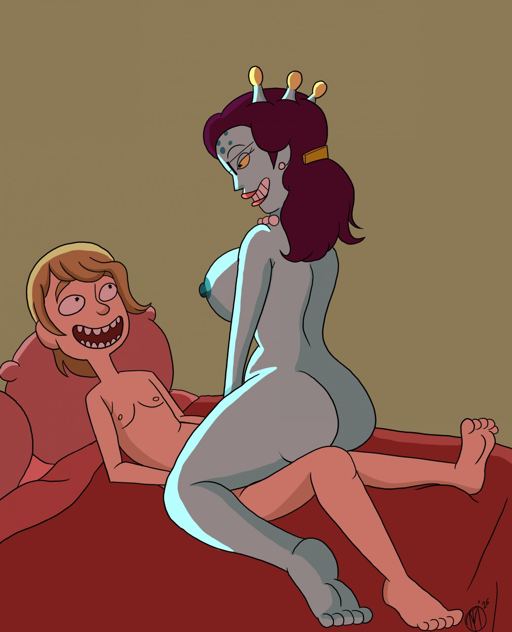 naked and morty beth rick Kung fu dino posse lucy