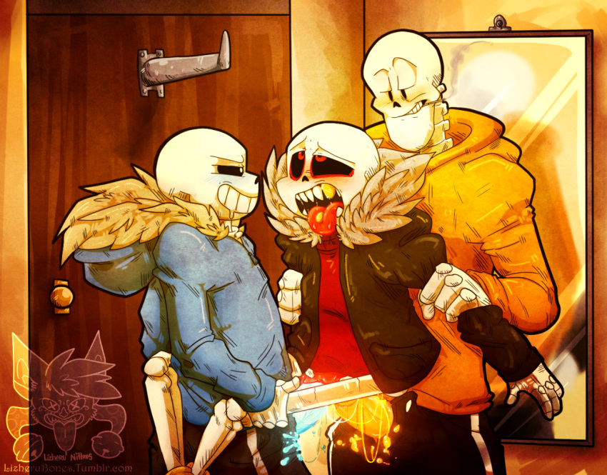 underfell x underfell papyrus sans Breath of the wild rubber tights