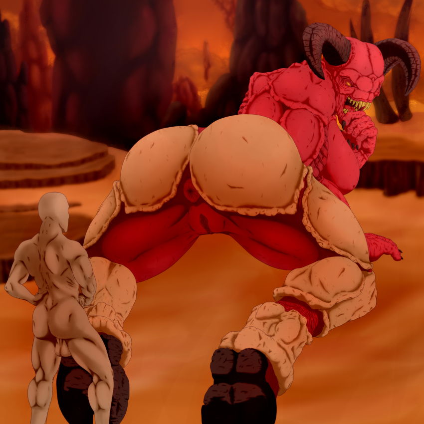 hell doom 4 of baron Panty and stocking with garterbelt nude